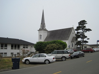 old presbyterian church in mendocino, ca